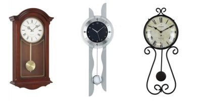 relojes de pared con pendulo modernos y antiguos