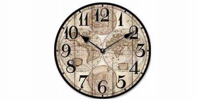 Reloj de pared mapamundi antiguo Nostalgia