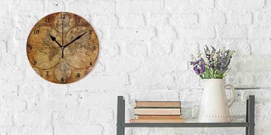 Relojes de pared mapamundi de estilo retro