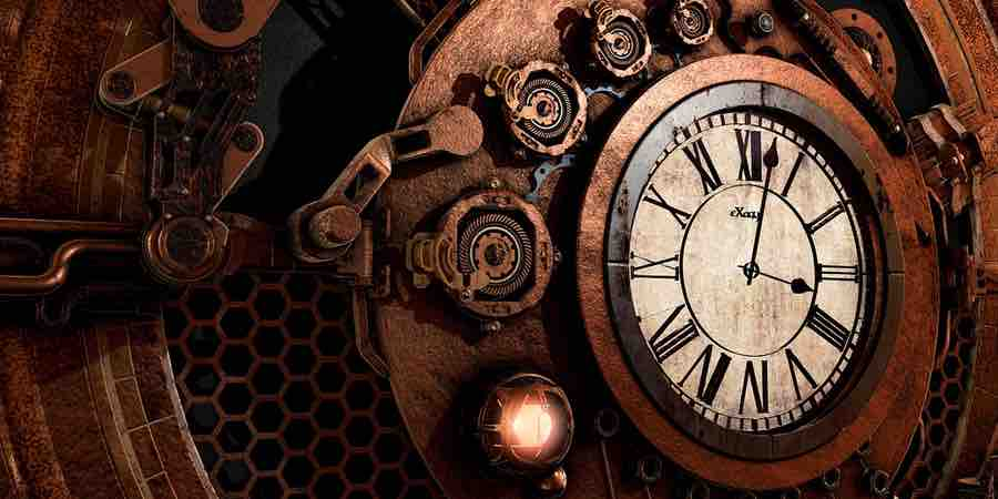 Relojes de pared industriales. Reloj de pared steampunk