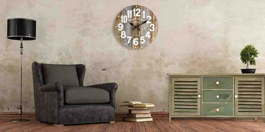 Reloj de pared industrial
